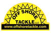 "Off Shore Tackle 8 1/2"" x 11"" Yellow Decal With Black Logo"